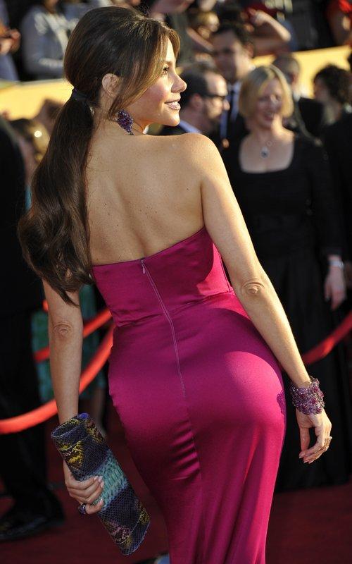 sofia vergara in sexy marchesa gown sag awards 2012 red
