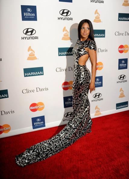 Toni Braxton In Marc Bouwer Clive Davis 2012 Pre Grammy